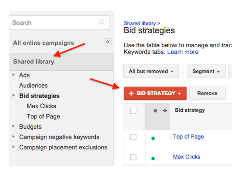 Bid strategies
