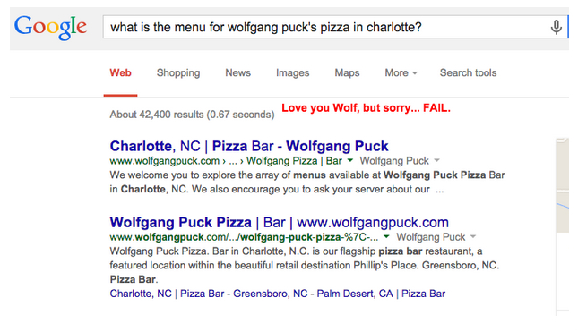 What is the Wolfgang Puck Pizza menu?