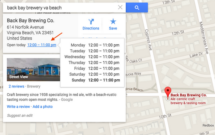 Update your G+ business hours