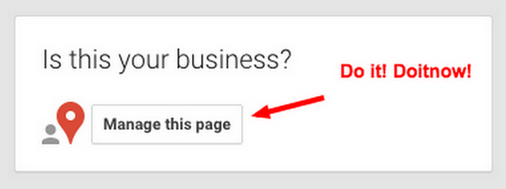Become the manager of your Google Business listing