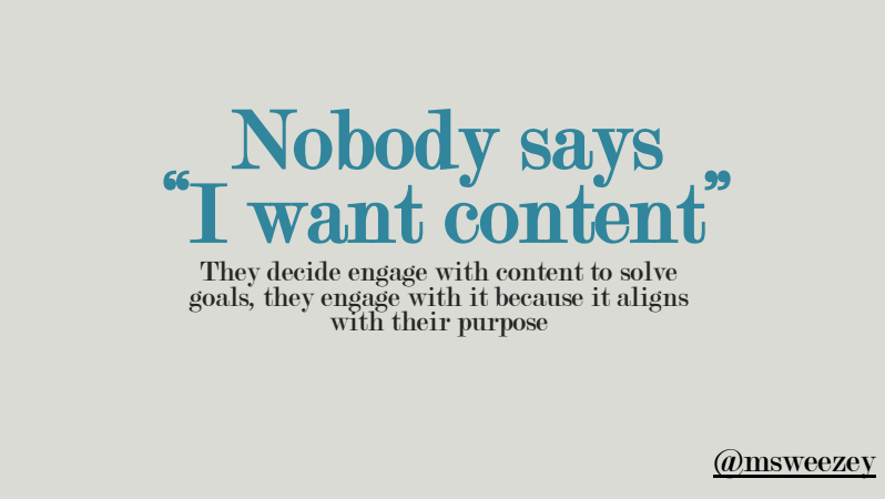 Nobody Says I Want Content