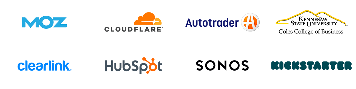 Talent from Moz, Autotrader, KSU, Cloudflare, Clearlink, HubSpot, Sonos, and Kickstarter